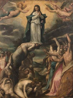 Mary crushes the serpent's head